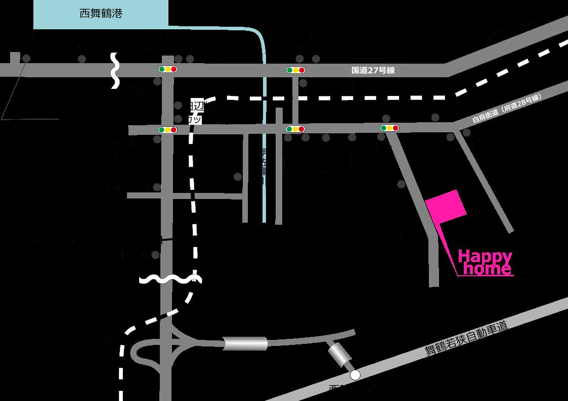 Happy home所在地地図